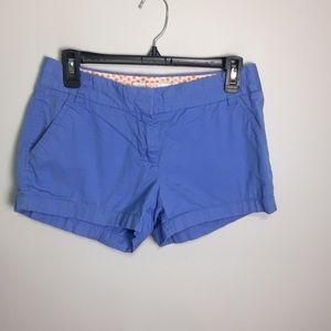 J. Crew 100% Cotton Blue Chino Shorts Sz 2